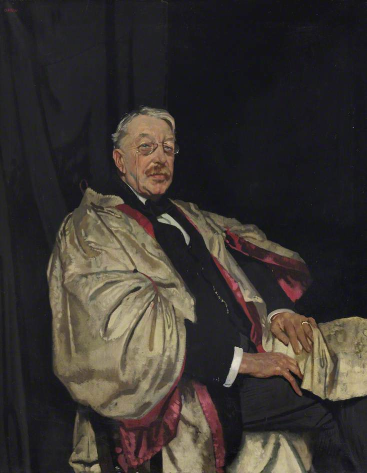 Charles Villiers Stanford (1852–1924), Trinity College Organist and Composer, Oil On Canvas by William Newenham Montague Orpen (1878-1931, Ireland)
