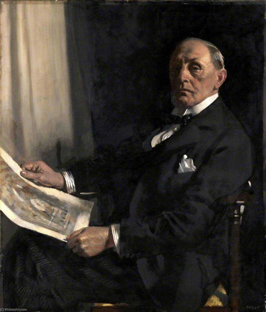 Sir Walter Tapper (1861–1935), RA, PRIBA, Oil On Canvas by William Newenham Montague Orpen (1878-1931, Ireland)