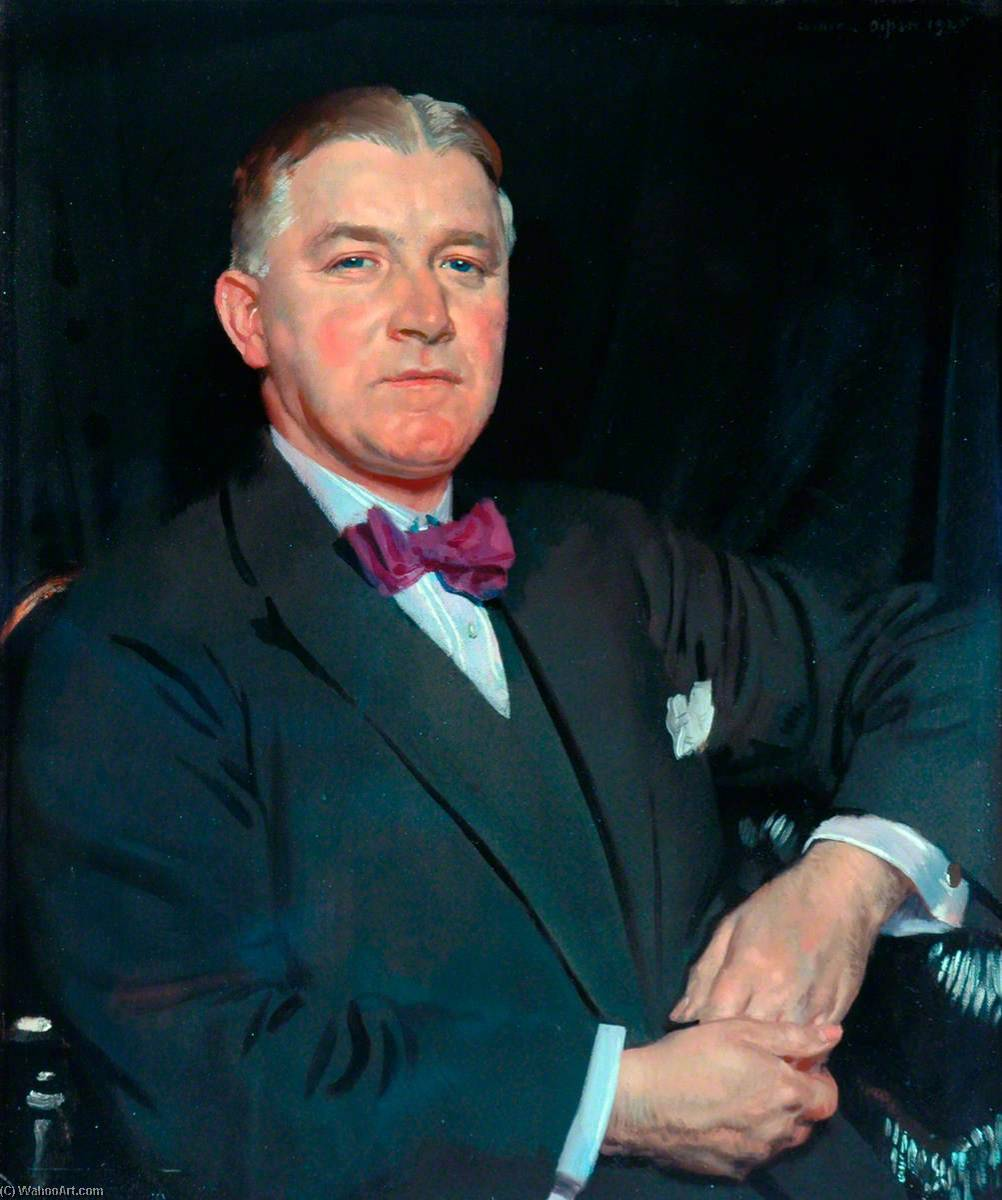 Thomas Howarth, JP, 1925 by William Newenham Montague Orpen (1878-1931, Ireland) | Painting Copy | WahooArt.com