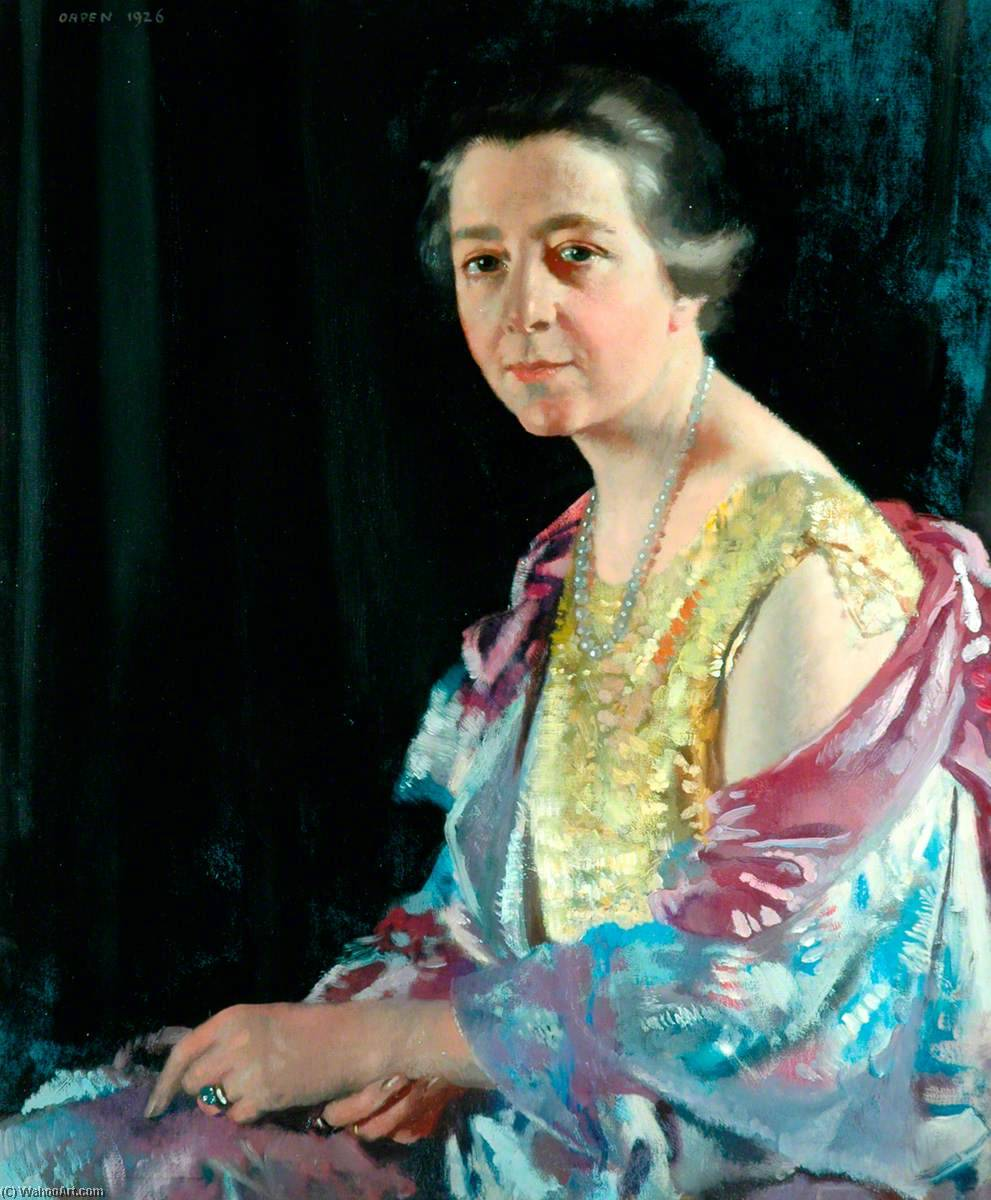 Mrs Thomas Howarth, 1926 by William Newenham Montague Orpen (1878-1931, Ireland) | Museum Quality Reproductions | WahooArt.com
