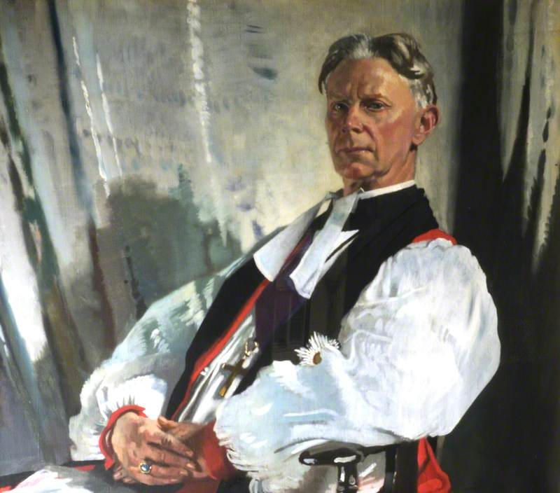 Thomas Banks Strong (1861–1944), Bishop of Oxford, 1923 by William Newenham Montague Orpen (1878-1931, Ireland) | Painting Copy | WahooArt.com