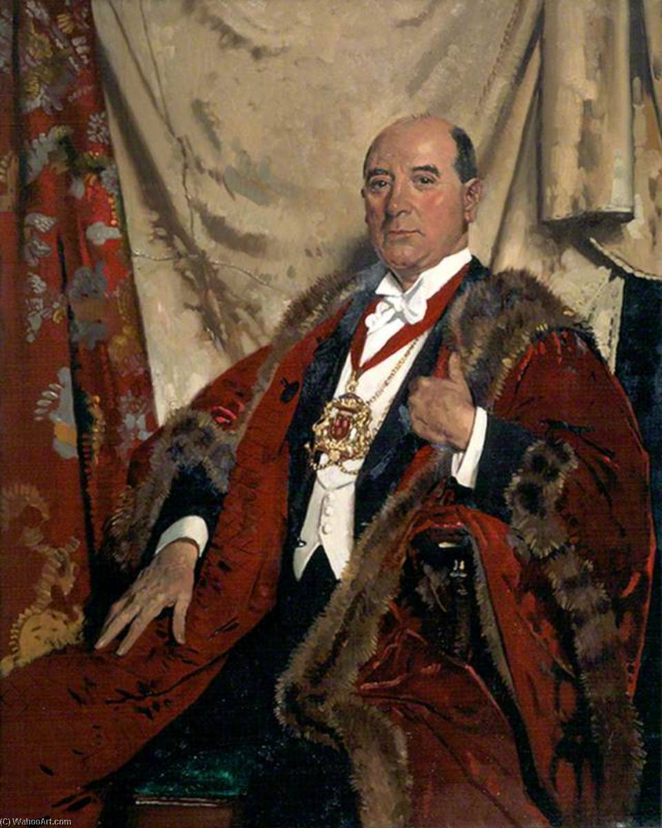 Order Painting Copy Sir Andrew Lewis, LLD, Lord Provost of Aberdeen, 1930 by William Newenham Montague Orpen (1878-1931, Ireland) | WahooArt.com | Order Oil Painting Sir Andrew Lewis, LLD, Lord Provost of Aberdeen, 1930 by William Newenham Montague Orpen (1878-1931, Ireland) | WahooArt.com