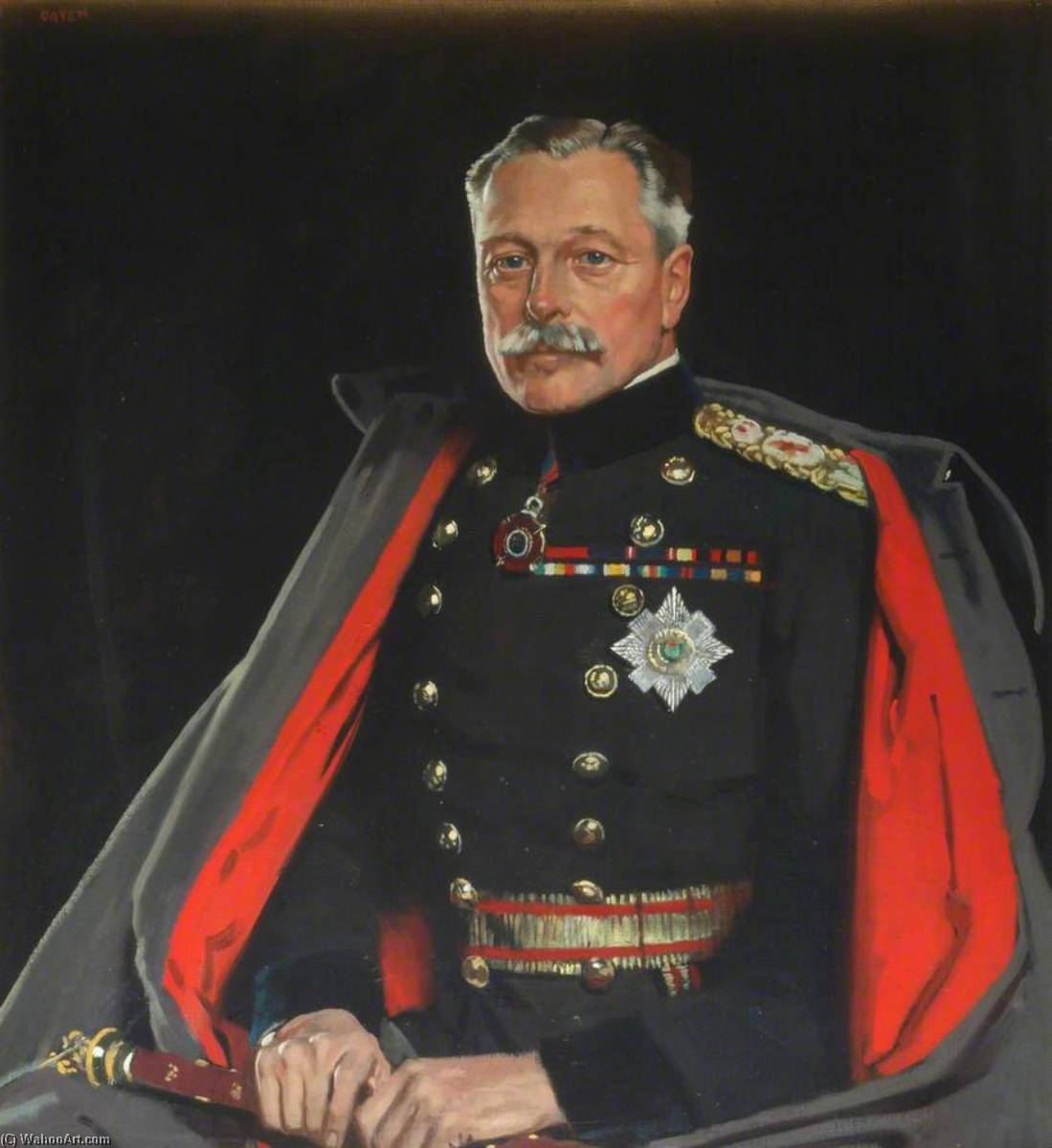 First Earl Haig, Field Marshal by William Newenham Montague Orpen (1878-1931, Ireland) | Famous Paintings Reproductions | WahooArt.com