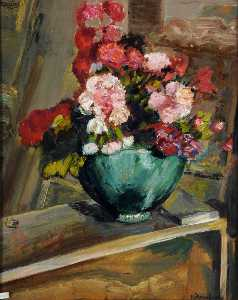 Francis Ferdinand Maurice Cook - Cluster Roses, Porthallow