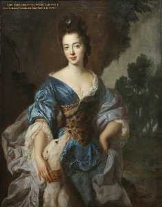 Jean François De Troy - Lady Mary Herbert (1659–1744 1745), Viscountess Montagu, Previously the Honourable Lady Richard Molyneux, and Later Lady Maxwell, as Diana