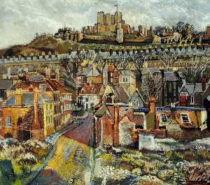 Francis Ferdinand Maurice Cook - Hellfire Corner, St James Street and Old Church, Dover