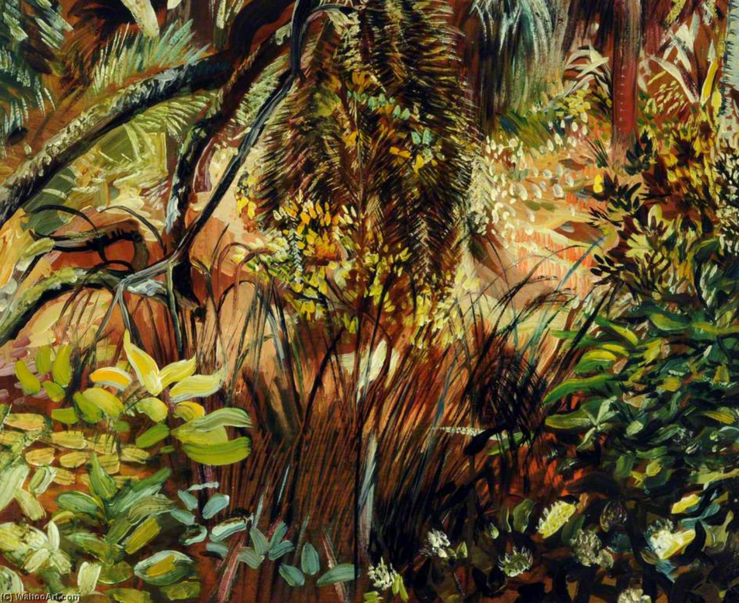 Tropical Garden at Monserrat, Portugal, Oil On Panel by Francis ...