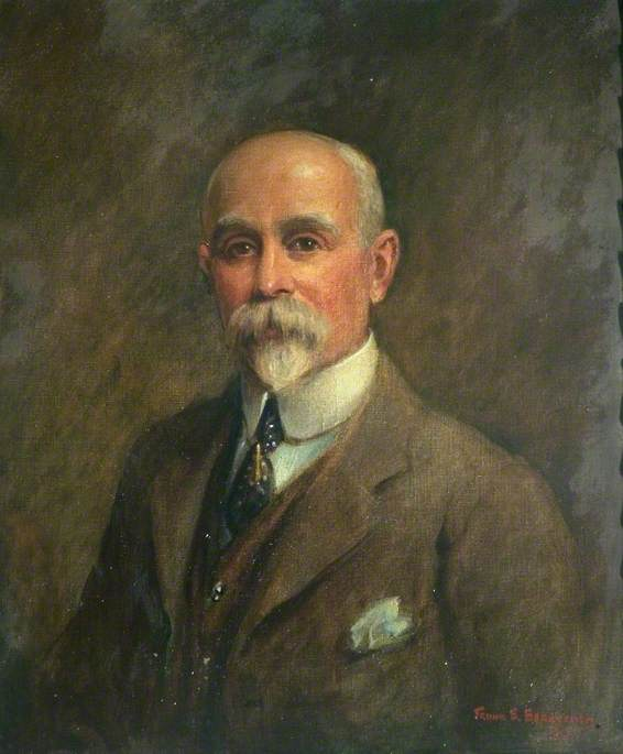George Herbert Strutt (1854–1928), First Chairman of Belper Urban District Council, 1929 by Frank Ernest Beresford (1881-1967, United Kingdom) | Museum Quality Reproductions | WahooArt.com