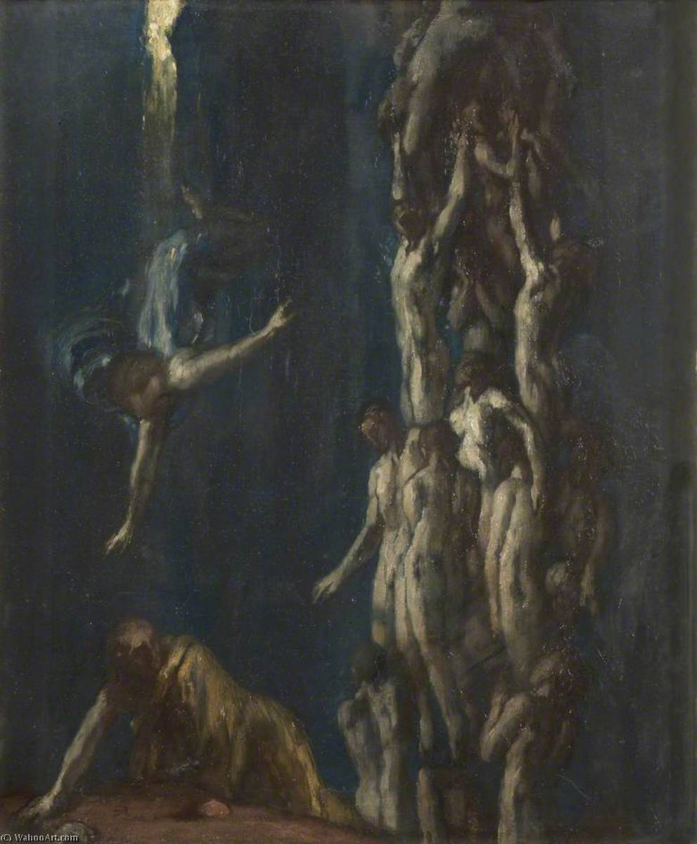 Order Art Reproductions | The Resurrection of the Dead, 1900 by Charles De Sousy Ricketts (1866-1931, Switzerland) | WahooArt.com