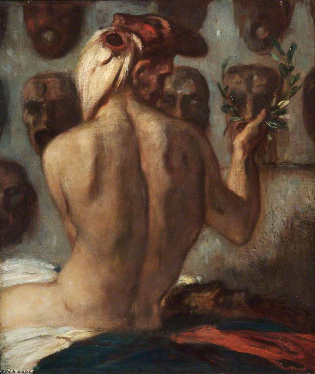 Choosing a Mask by Charles De Sousy Ricketts (1866-1931, Switzerland) | Museum Quality Reproductions | WahooArt.com