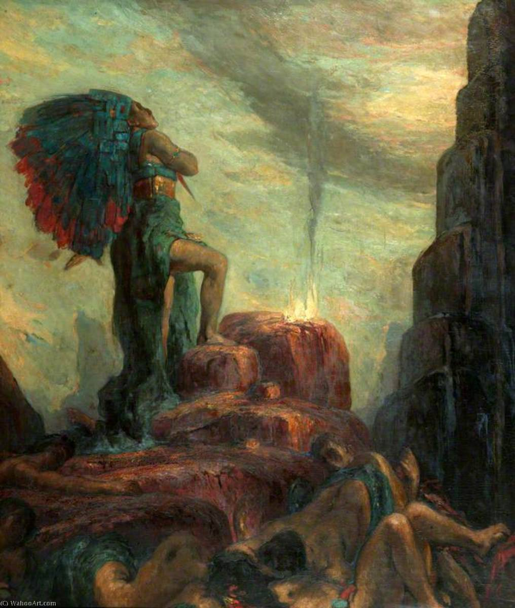 Order Paintings Reproductions | Montezuma by Charles De Sousy Ricketts (1866-1931, Switzerland) | WahooArt.com