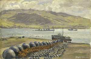 Stephen Bone - Campbeltown Loch Boom Nets and Floats