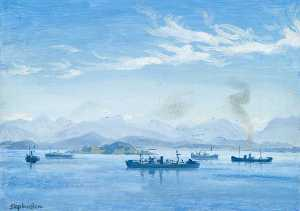 Stephen Bone - Convoy Anchorage from Lismore
