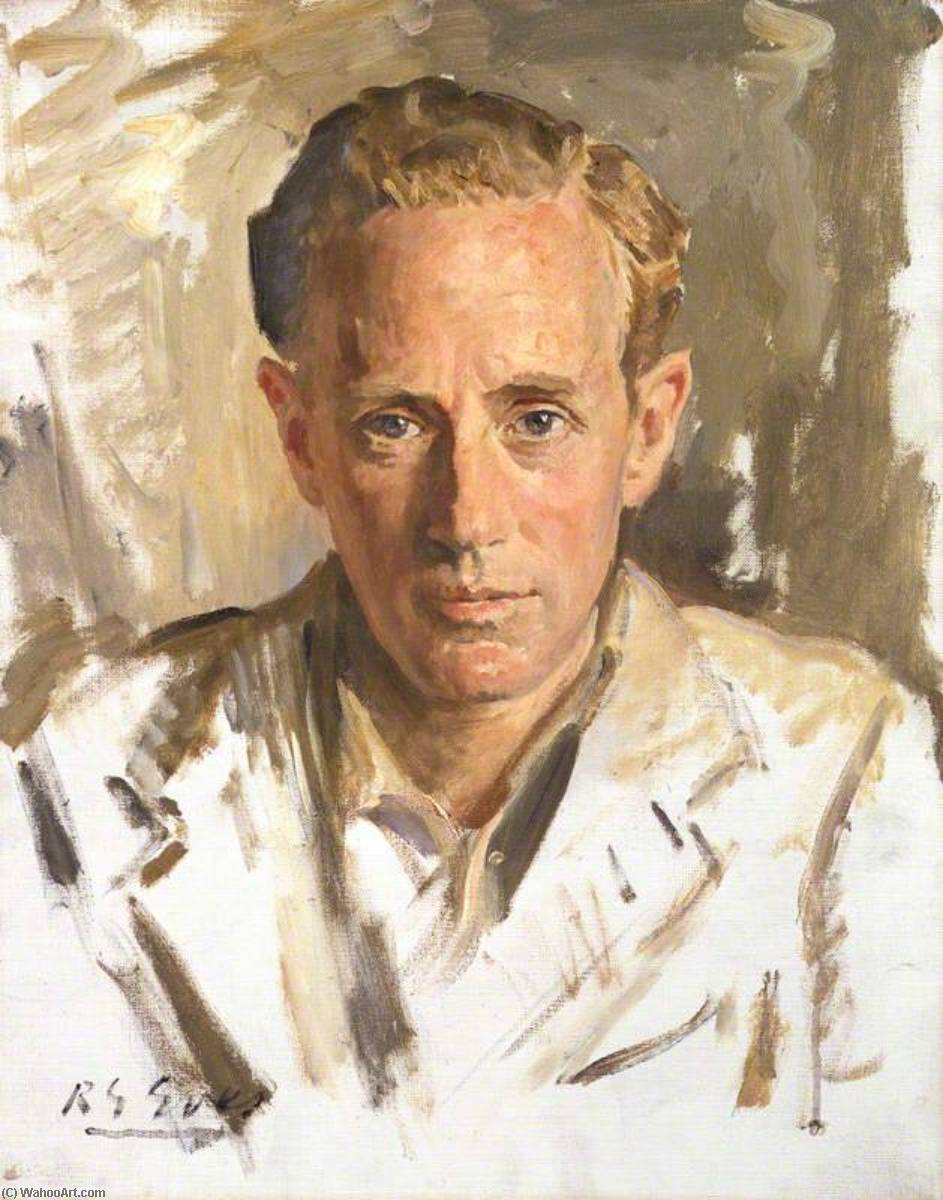 Leslie Howard, 1930 by Reginald Grenville Eves (1876-1941) | Paintings Reproductions Reginald Grenville Eves | WahooArt.com