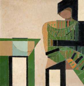 Colin Middleton - Figure beside a Table