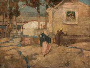 Frank William Brangwyn - The Shrine at the Well