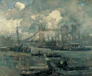 Frank William Brangwyn - Tower Bridge, London