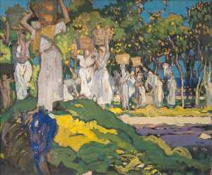 Frank William Brangwyn - Picking Lemons