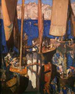 Frank William Brangwyn - Venetian Boats