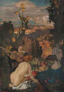 Frank William Brangwyn - The Concert Party