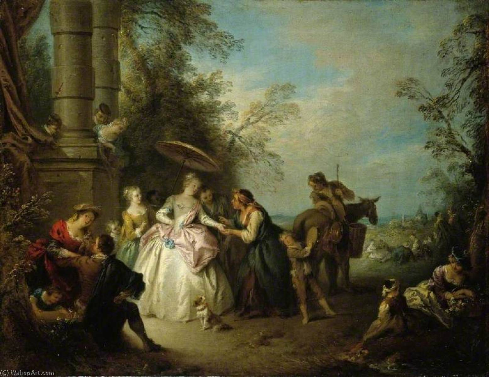 The Fortune Teller by Jean-Baptiste Pater (1695-1736, France) | Museum Quality Reproductions | WahooArt.com
