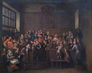 Egbert Van Heemskerck Ii - The Election in the Guildhall of Oxford, 14 March, 1688 (The Attempt by James II to Force Oxford City Council to Elect His Nominee as Alderman)