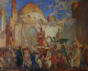 Frank William Brangwyn - Eastern Bridal Procession