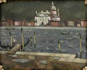 John Kyffin Williams - Giudecca, Venice (verso)