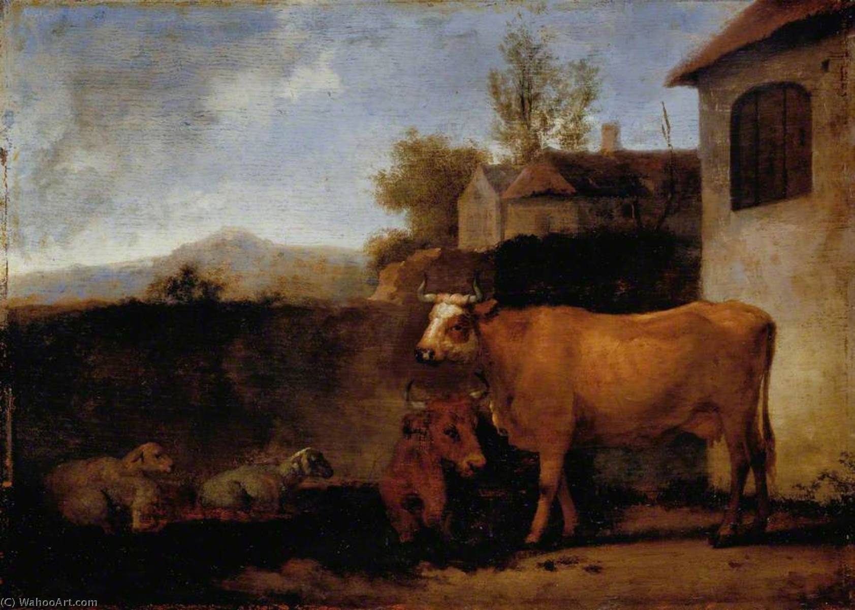 Order Museum Quality Copies | Cows and Sheep, 1722 by Abraham Pietersz Van Calraet (1642-1722) | WahooArt.com