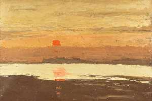 John Kyffin Williams - Coastal Sunset