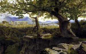 Edward Lear - The Temple of Apollo at Bassae