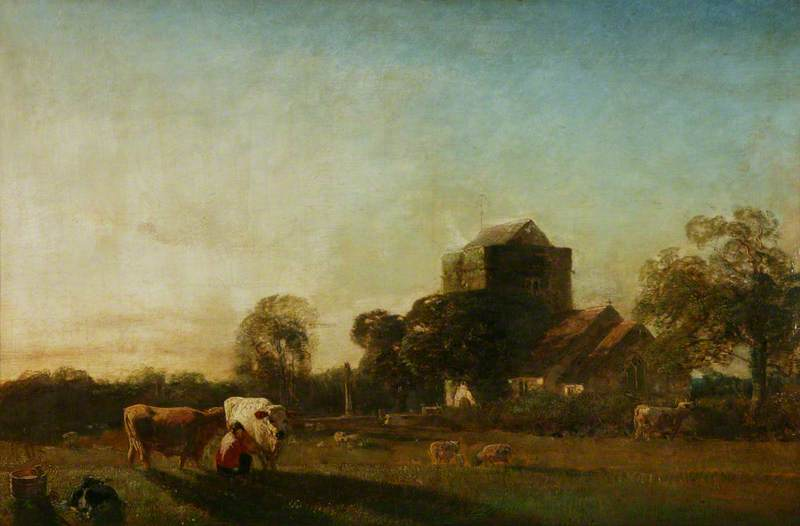 The Village Church, Oil On Canvas by Henry Mark Anthony  (order Fine Art fine art print Henry Mark Anthony)