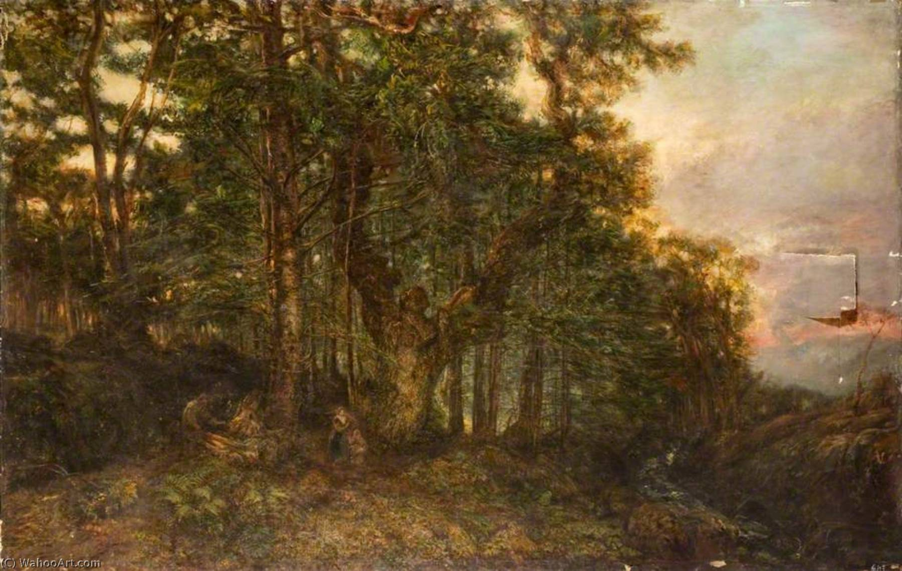 A Larch Forest, Oil On Canvas by Henry Mark Anthony (1817-1886)