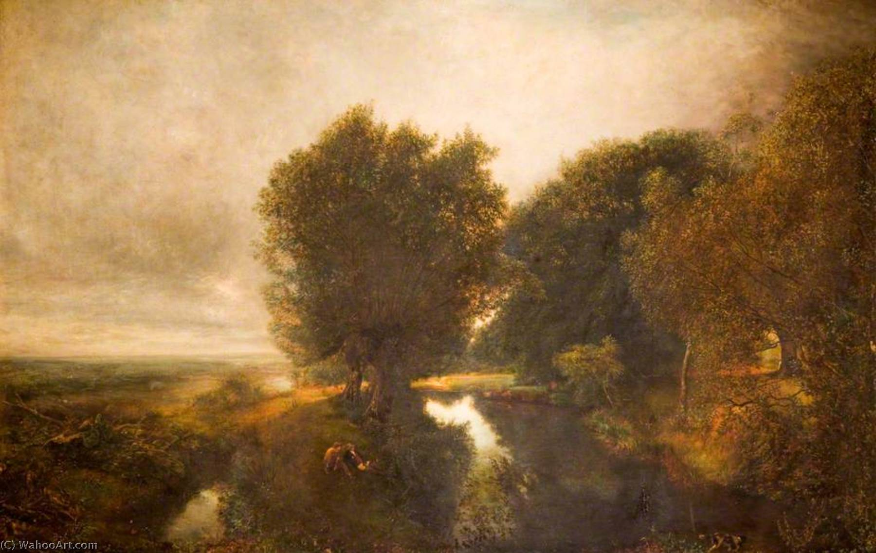 Nature's Mirror by Henry Mark Anthony (1817-1886) | WahooArt.com