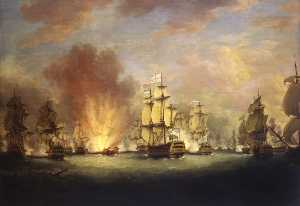 Richard Paton - The Moonlight Battle off Cape St Vincent, 16 January 1780