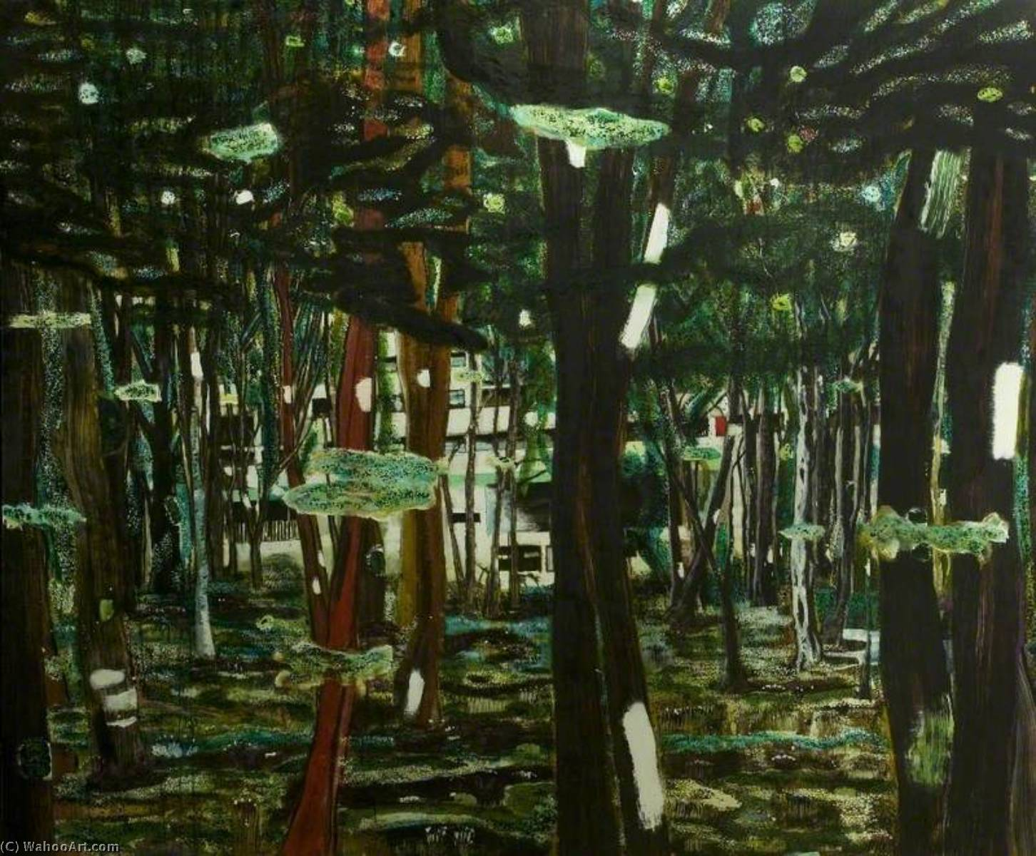 Concrete Cabin, 1992 by Peter Doig | Painting Copy | WahooArt.com