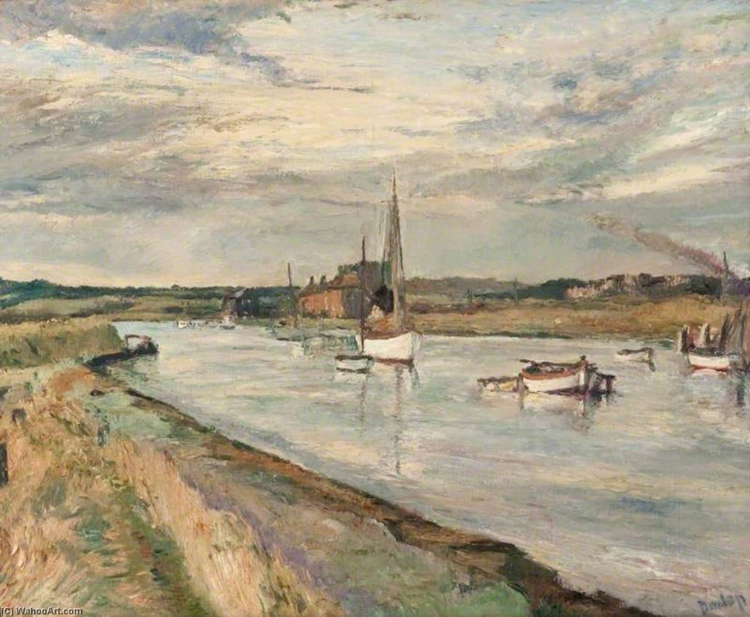 Walberswick, Oil On Canvas by Ronald Ossory Dunlop (1894-1973, Ireland)