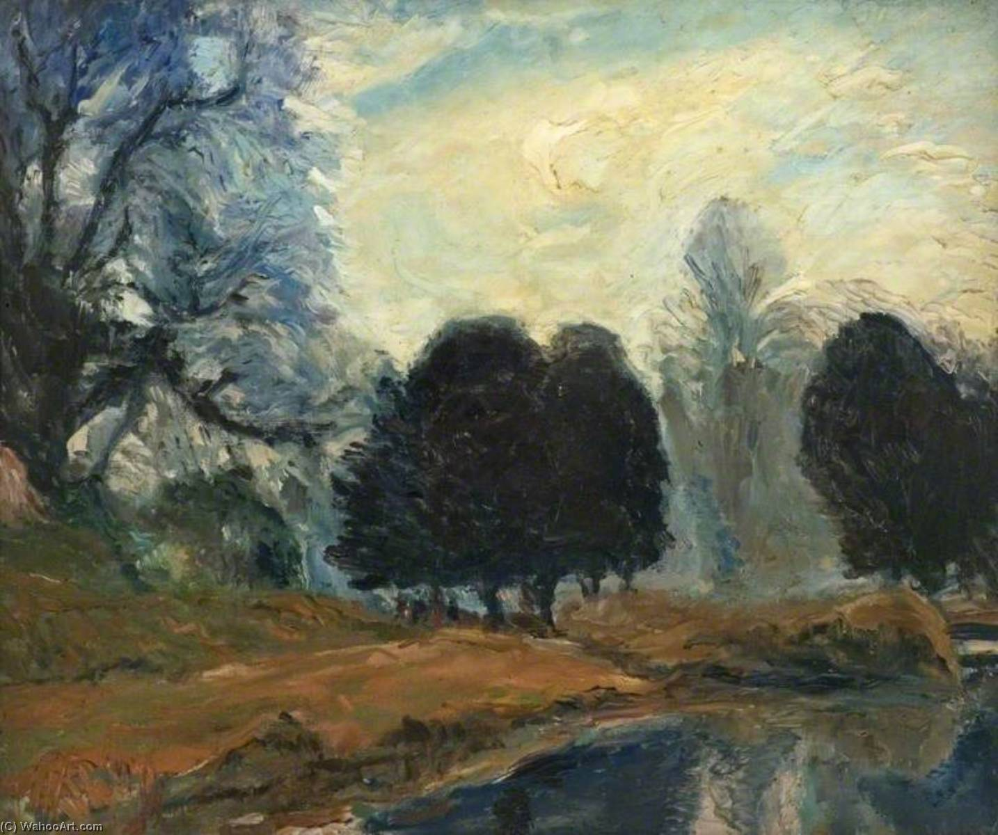 The Lake at Swanbourne Park, Oil On Canvas by Ronald Ossory Dunlop (1894-1973, Ireland)
