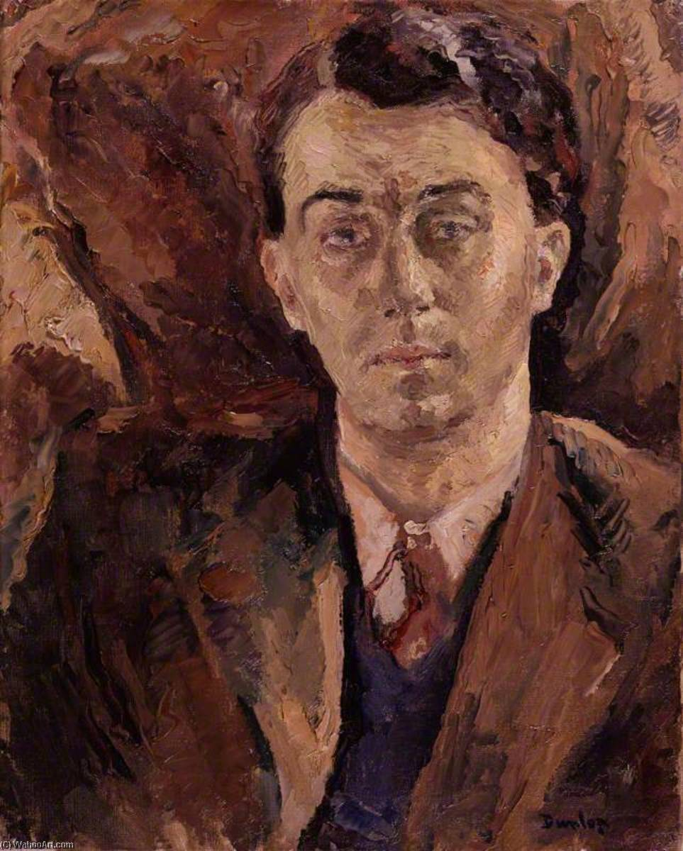 (George) Emlyn Williams, 1945 by Ronald Ossory Dunlop (1894-1973, Ireland) | Museum Quality Reproductions | WahooArt.com