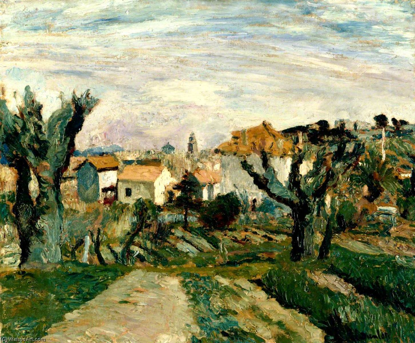 St Tropez, South of France, Oil On Canvas by Ronald Ossory Dunlop (1894-1973, Ireland)