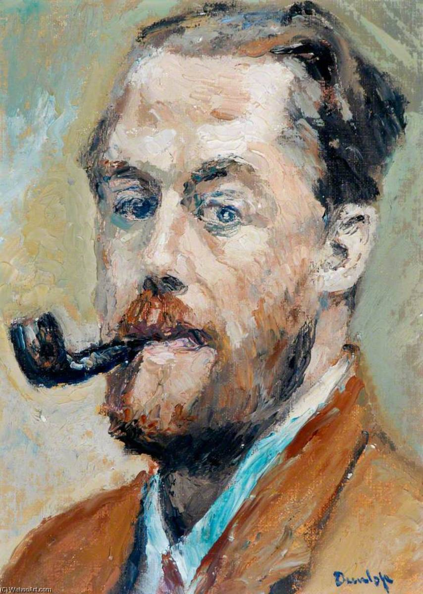 Self Portrait, Oil On Canvas by Ronald Ossory Dunlop (1894-1973, Ireland)