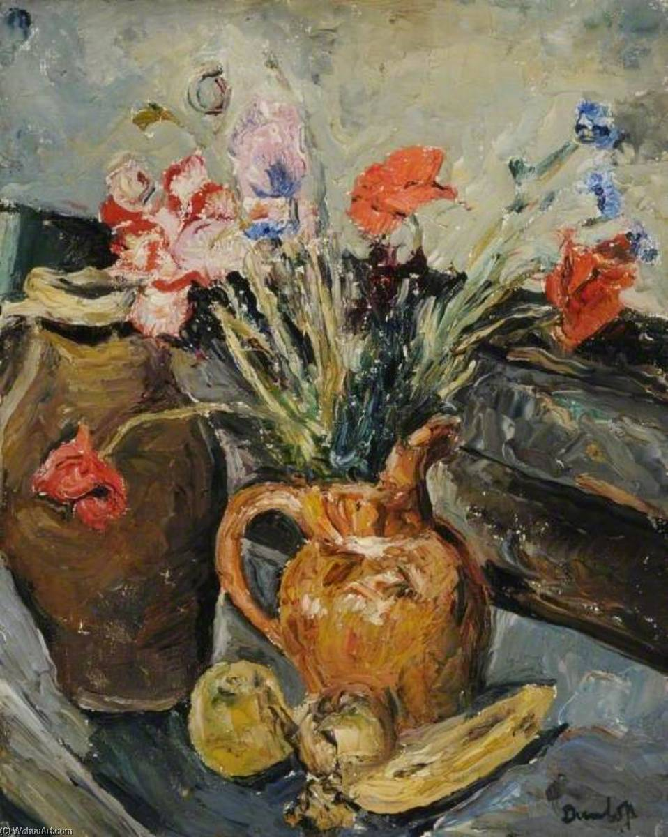 Poppies, 1931 by Ronald Ossory Dunlop (1894-1973, Ireland) | Oil Painting | WahooArt.com