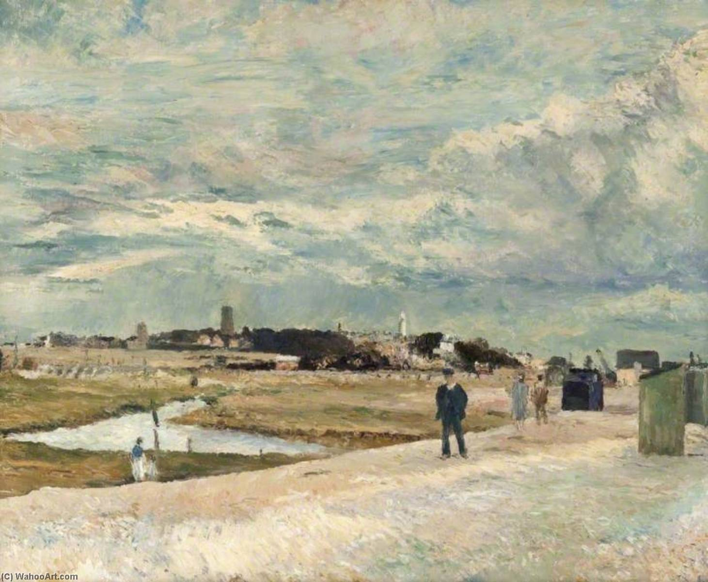 Southwold from Walberswick Beach, Oil On Canvas by Ronald Ossory Dunlop (1894-1973, Ireland)