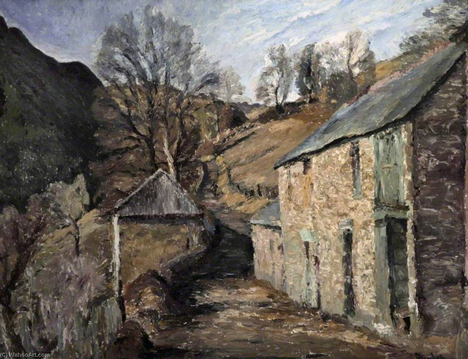 Winter Sunshine, Wales, Oil On Canvas by Ronald Ossory Dunlop (1894-1973, Ireland)