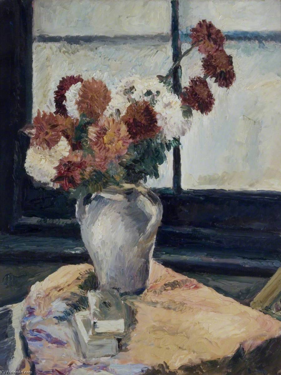 Flowers by Ronald Ossory Dunlop (1894-1973, Ireland) | Museum Quality Reproductions | WahooArt.com