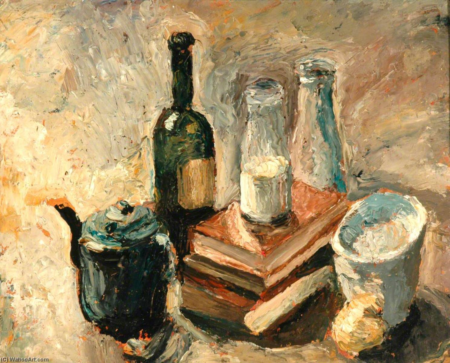 Still Life, Oil by Ronald Ossory Dunlop (1894-1973, Ireland)