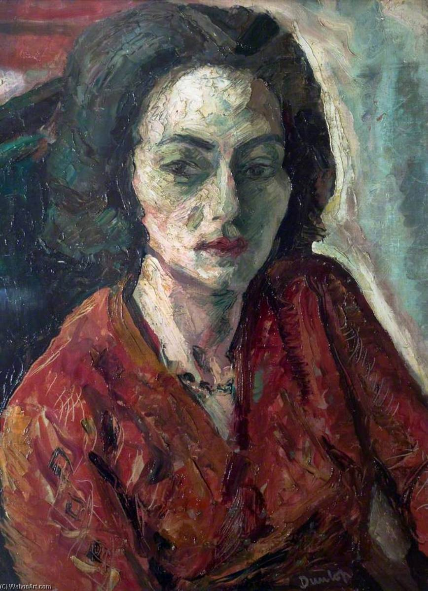 The Girl of Montparnasse, 1932 by Ronald Ossory Dunlop (1894-1973, Ireland) | Painting Copy | WahooArt.com