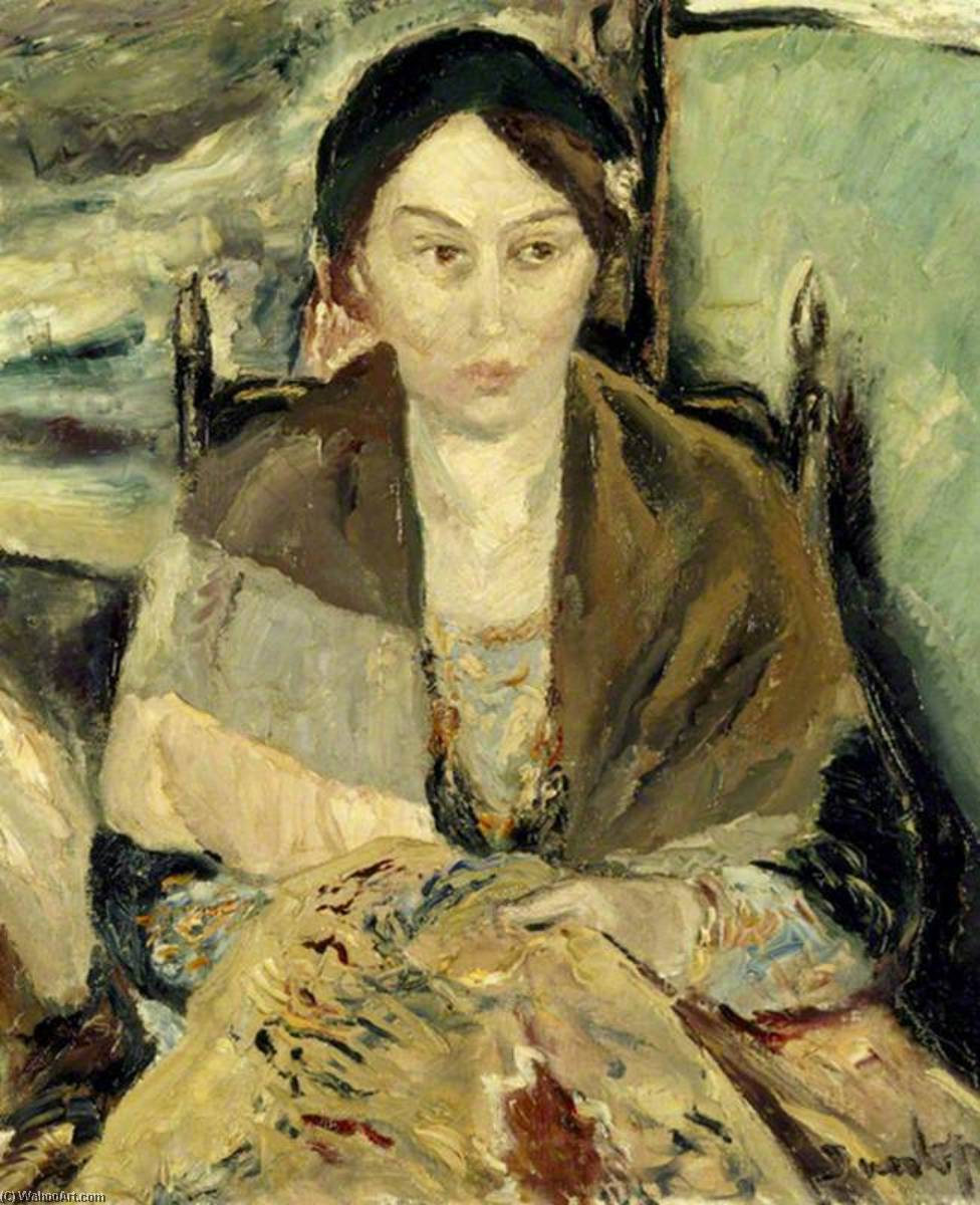 Dorothy Wynne Wiggin (1882–1957), Lady Elton, Oil On Canvas by Ronald Ossory Dunlop (1894-1973, Ireland)