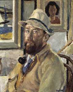 Ronald Ossory Dunlop - Myself with Cadger's Pipe