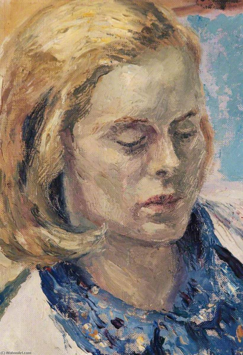 Rosalind Iden (1911–1990), 1946 by Ronald Ossory Dunlop (1894-1973, Ireland) | Oil Painting | WahooArt.com